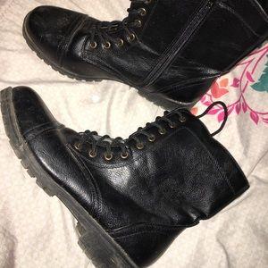 Black combat boots!